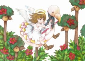An angel girl by 6-4-0