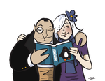 Penguin and Paloma by BlitheFool