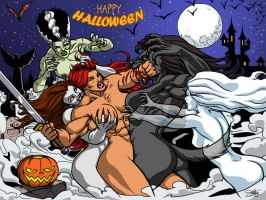 RED vs MONSTERS (HALLOWEEN SPECIAL) by Kaywest