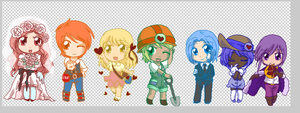 the Seven Heavenly Virtues - WIP by bunnyb133