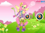 Friendship Games Fluttershy Archery Style by kimpossiblelove