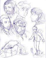 Hobbit Sketch Dump 1 by DarkClosure