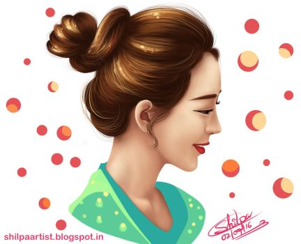 Hair study by Khushiart