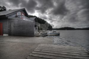 Boat houses by Pandinus