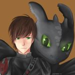 Hiccup and Toothless by xzbonbon