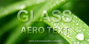 How to Create a Aero Glass Text in Photoshop CS5 by eds-danny