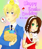 Happy Easter/Birthday! by IceRosePhoenix