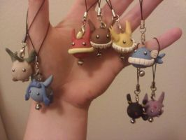Eeveelution Charms by MLEann