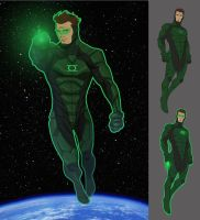Green Lantern Redesign by kiddoblivion