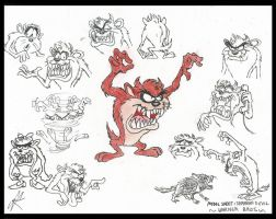 My take on the Tasmanian Devil by devilkais