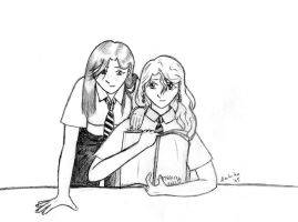 Ginny and Luna by ambika-san