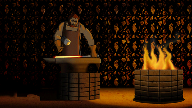Blacksmith GIF Animation - Digital Ink and Paint by Jed-Stuart