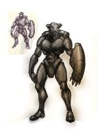 Armored Figure Sketch by marcnail