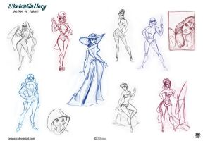 Pin up Sketch gallery by celaoxxx