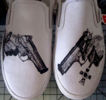 Boondock Saints Shoes #2 by RockabillyReese