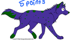 wolf adoptable for 5 points by illy213