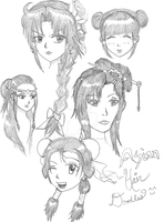 Asian Hairstyles by FlamingSerpent