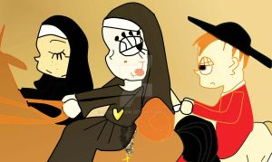 The Nuns and their Priest by HCShannon