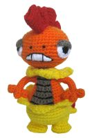 Pokemon Crochet: Scrafty by kerryroulston