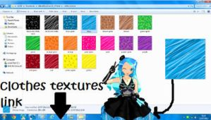 MMD Clothes Textures by MikuMikuLizzie