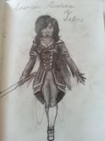 OC Talone- American Revolution style- Pencil Art by Gloalhorselove123