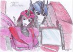 Laurelin and Optimus Prime by DarkAudi1728