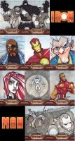Iron Man 2 Sketch Cards by Bloodzilla-Billy