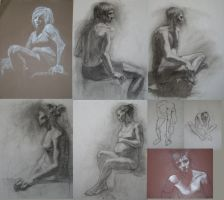 Figure Drawing Compilation by Rushstarfire