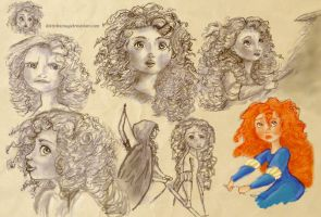 Merida Sketches 2 by DottyDrama