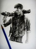 Bioshock infinite Pencil Drawing by Keshavsart
