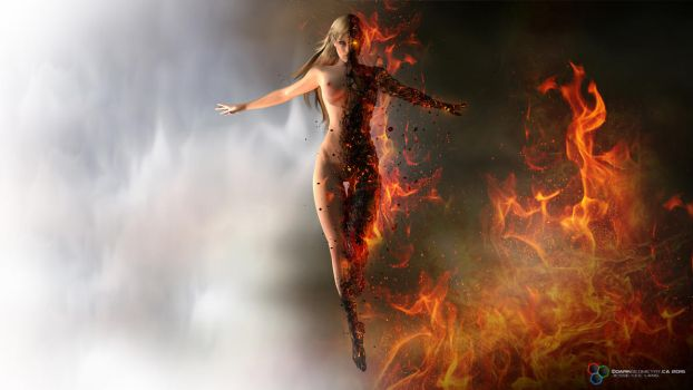 The Fire Within by DarkGeometryArt
