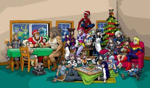 Merry Spider-mas by strangefour