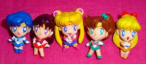 Set of 5 Sailor Moon Chibi Figures - SOLD by onsenmochi
