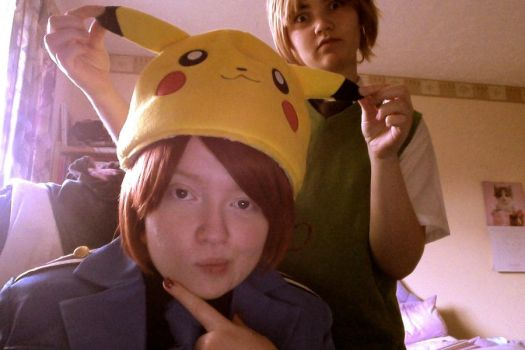 Italy and England [COSPLAY] - Pikachu appears pt 2 by CupidFireAngel