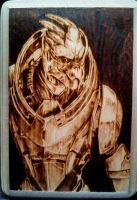 Garrus Vakarian from Mass Effect Woodburn by FreedomSparrow3