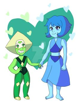 Steven Universe - Lapis and Peridot by notvanessalee