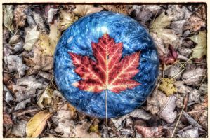 Maple leave on a bowling ball by cecil92