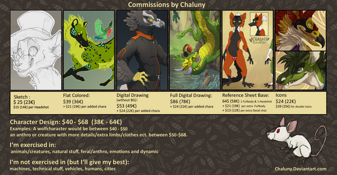 Commission Info 2017 - OPEN by Chaluny