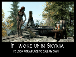 If I woke up in Skyrim 2 by Cinn-Ransome
