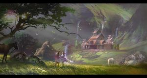 2014.01.17 FantastyLandscape by M0nkeyBread