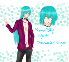 New Oc: Sky The singer by DiabolicBlueCherry