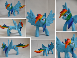Rainbow Dash clay by WolfTiger99