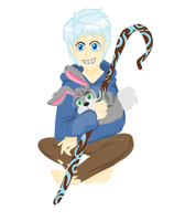 Rise of The Guardians - Jack Frost and Mini Bunnym by TerenaChen