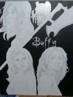BTVS Slayer Painting by krazyslayer187