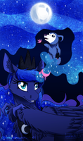 Painting Stars - Luna Day - 2016 by InuHoshi-to-DarkPen