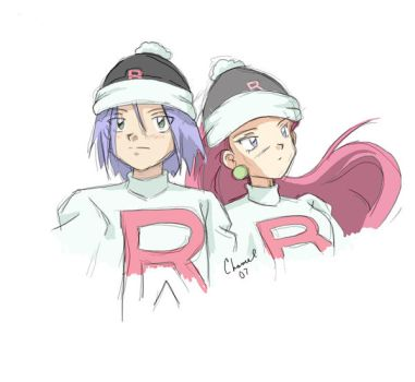 Winter Sketch-Team Rocket by Chamel413