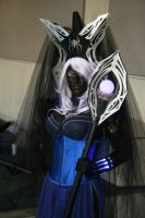 Drow Priestess with staff by Daniphae