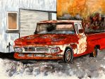 old chevy truck antique by derekmccrea