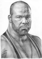 Kurt Angle Pencil Drawing by Chirantha