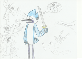 Mordecai The Zombie Slayer by Fangscream